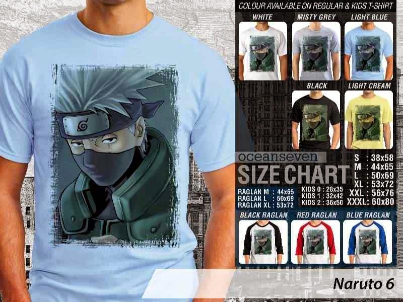 Kaos Distro Naruto 6 Manga Anime