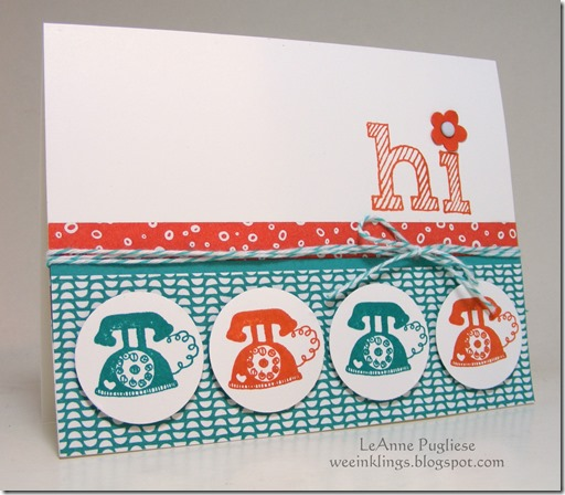 LeAnne Pugliese WeeInklings Try Stampin on Tuesday 222 Telephone Hi Stampin Up