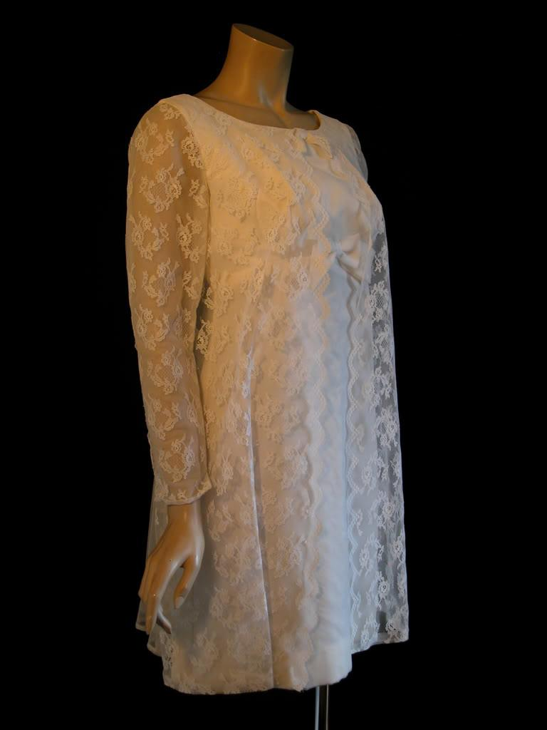 1960s babydoll wedding dress