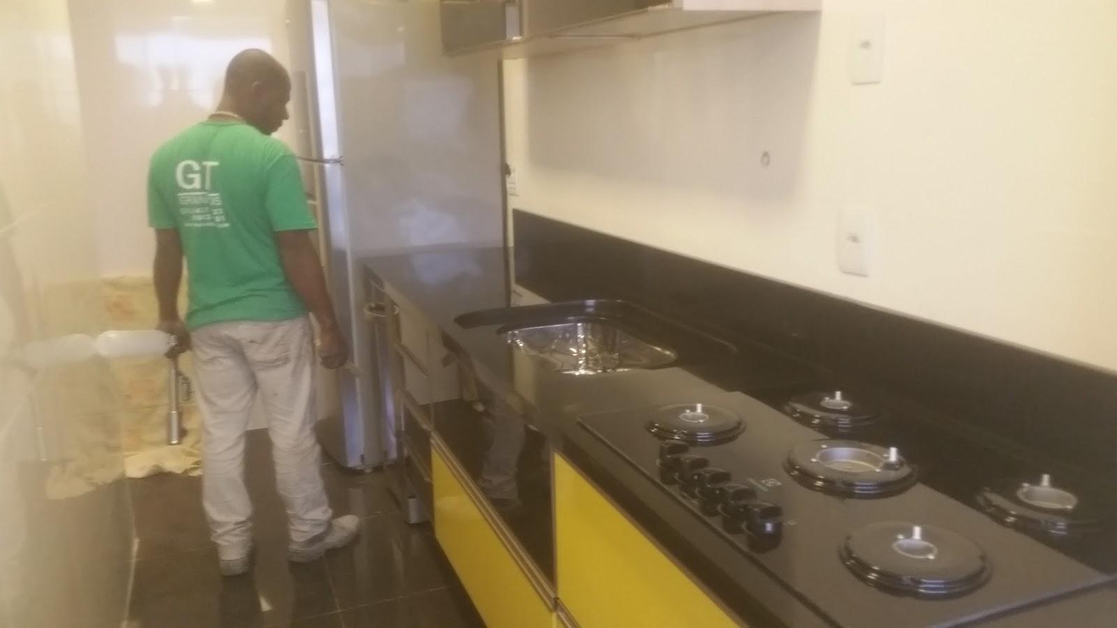 GT GRANITOS Bancada de cozinha em preto absoluto # Bancada De Cozinha Preto Absoluto