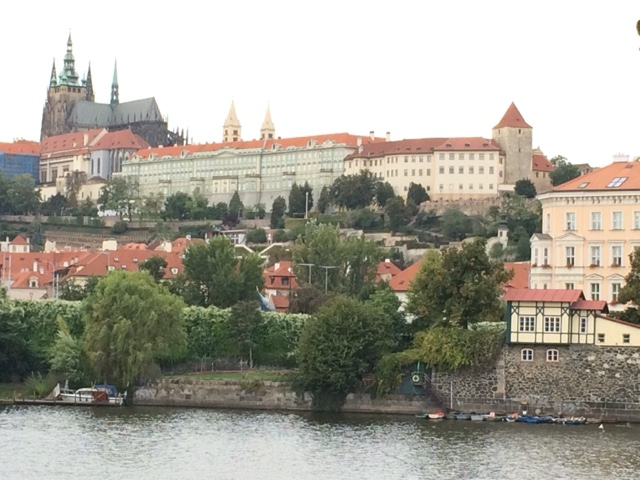Prague is beautiful. We camped at an official campsite on an island in the river: 'Caravan Camping'. (We always use campgrounds in cities for the security, and to have a few days it's better to have a toilet dump and water access.)And then we cycled in...