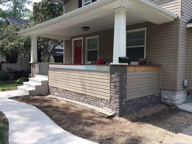 Porch Siding and Faux Stone Panels 1