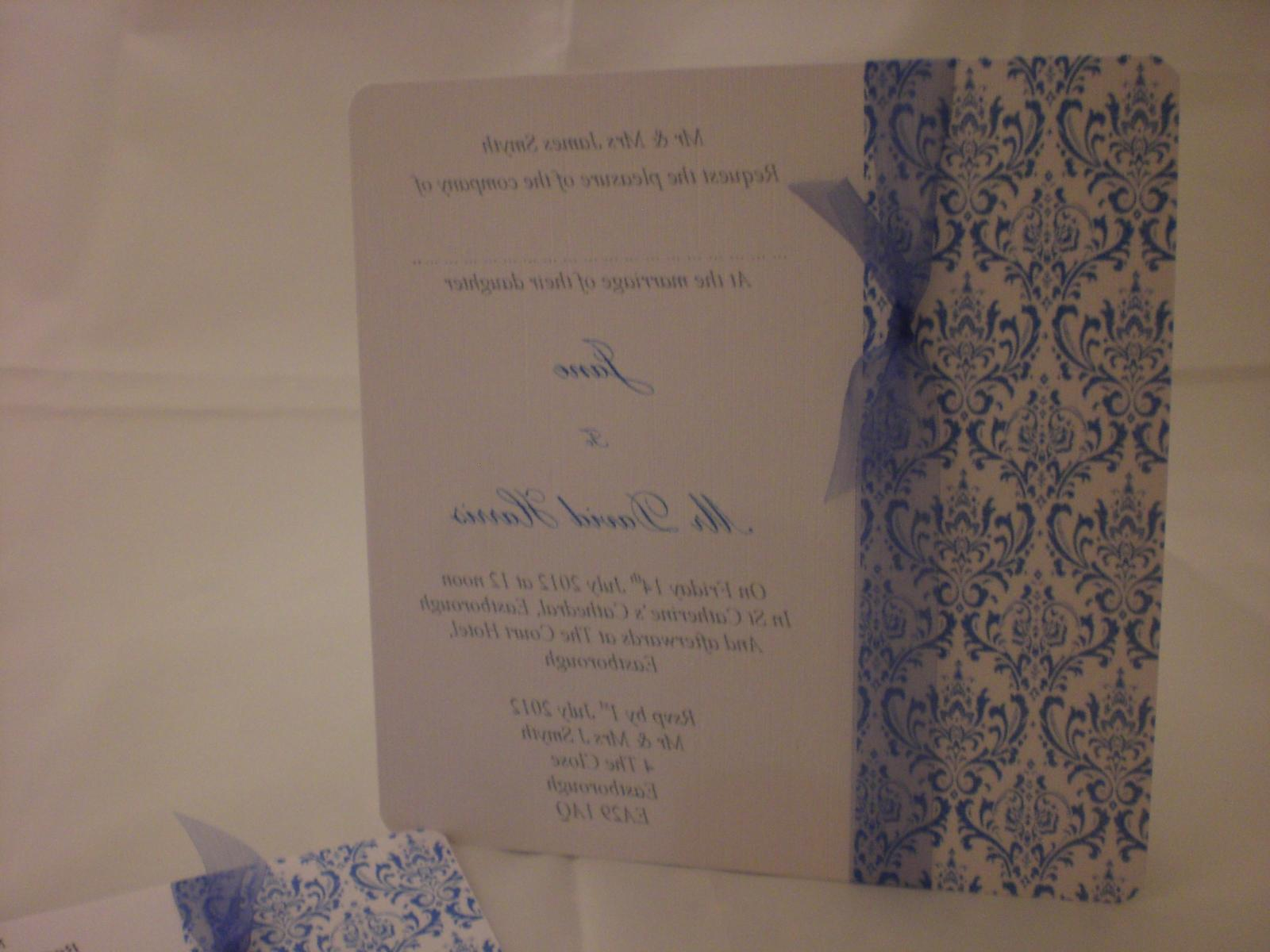 Budget Damask Design Wedding Invitations