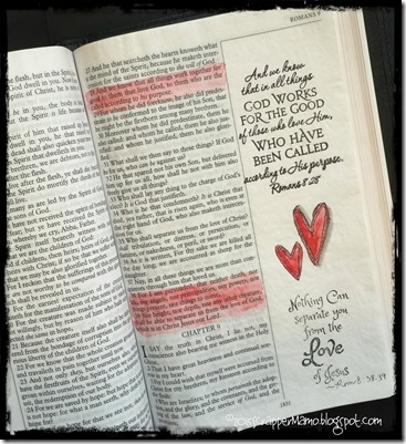 Bible Art Journaling Rom 8