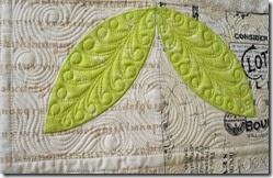 Judy Egan Leaf quilting
