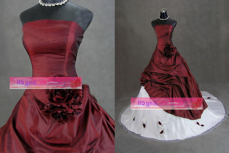 stunning red wedding dress HL-