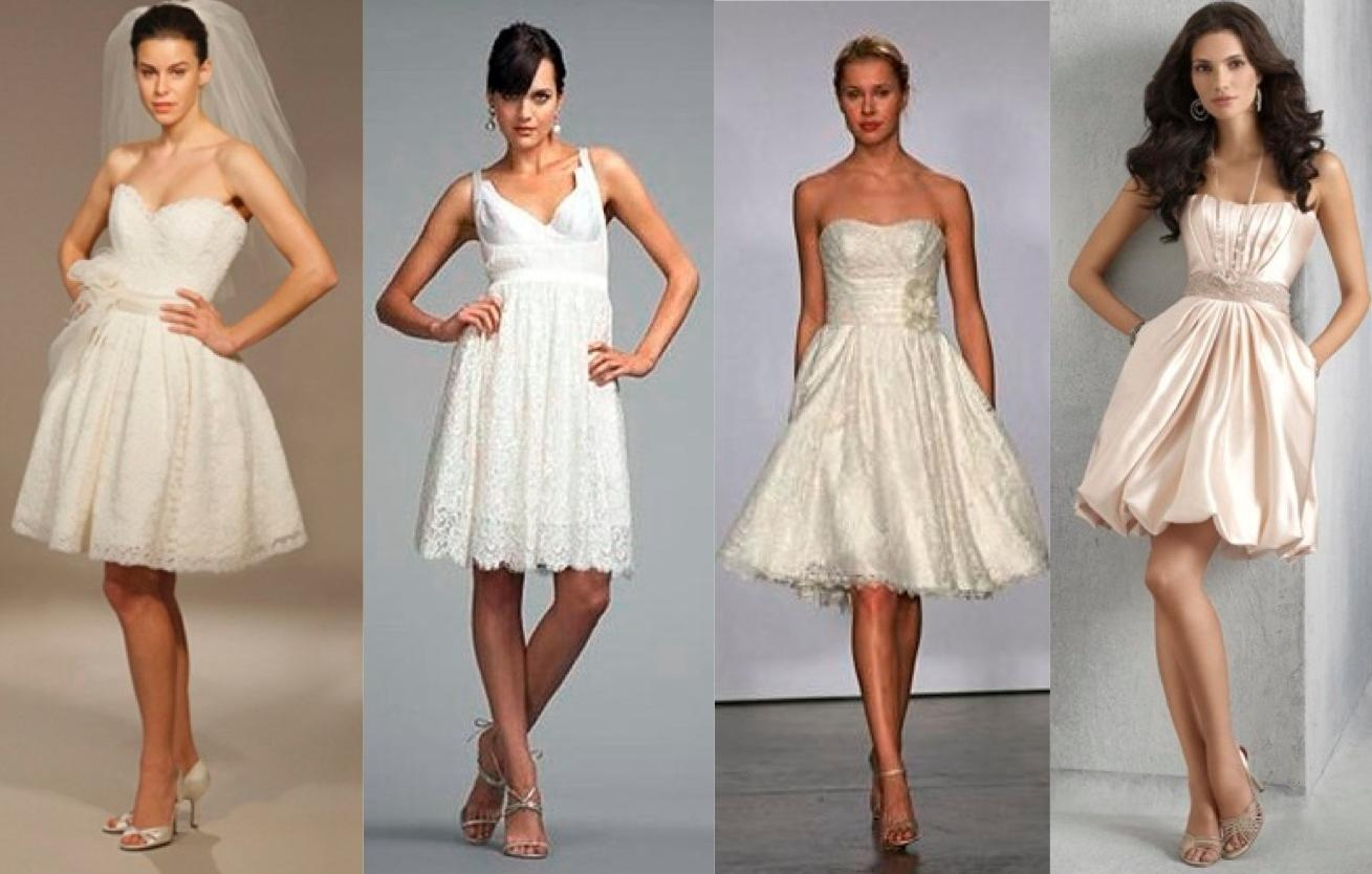 Unique short wedding dresses