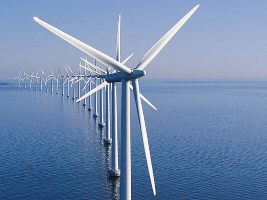 Ocean wind turbines. Photo: via Carbon Counter