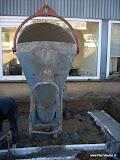 Zo wordt het beton gestort dit noemen ze een kubbel