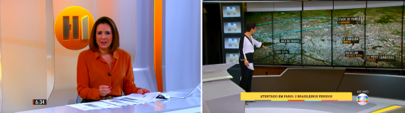 Renata Capucci e Sandra Annenberg (Foto: Reprodução/TV Globo)