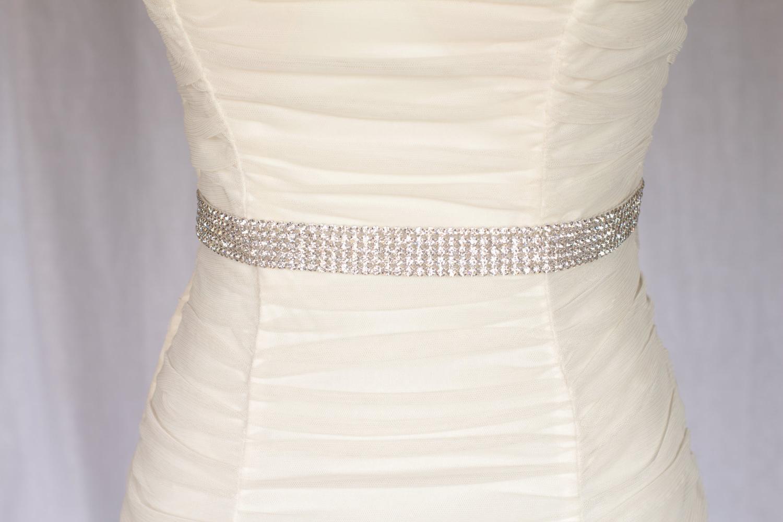 Megan bridal sash, Rhinestone