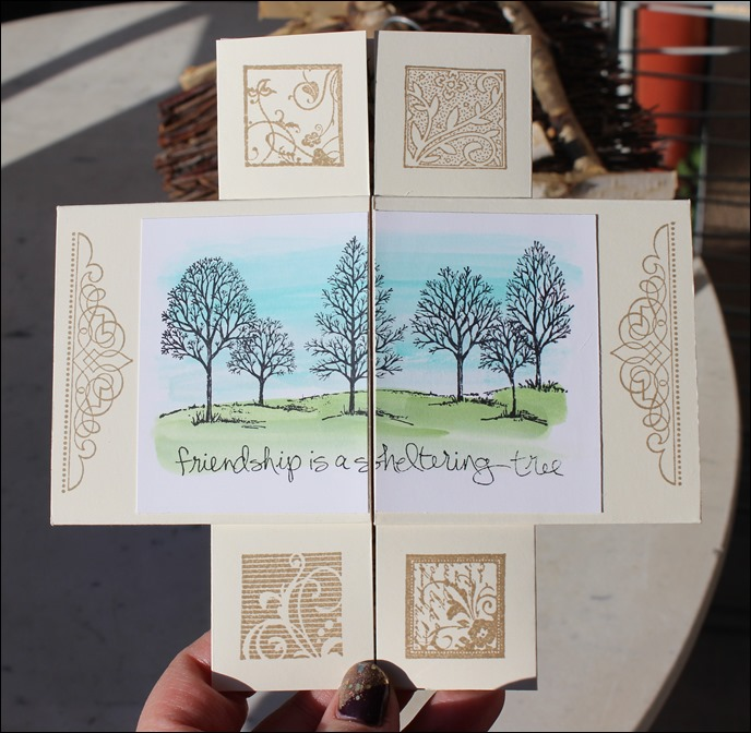 Endloskarte Endless Card Infinity Card Never Ending Card Stampin Up  04