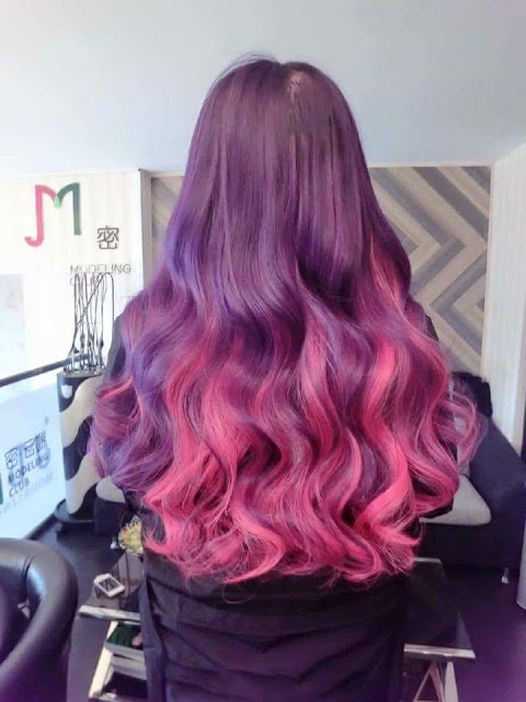 Pastel Hair Dye_ Purple and Hot Pink Hair