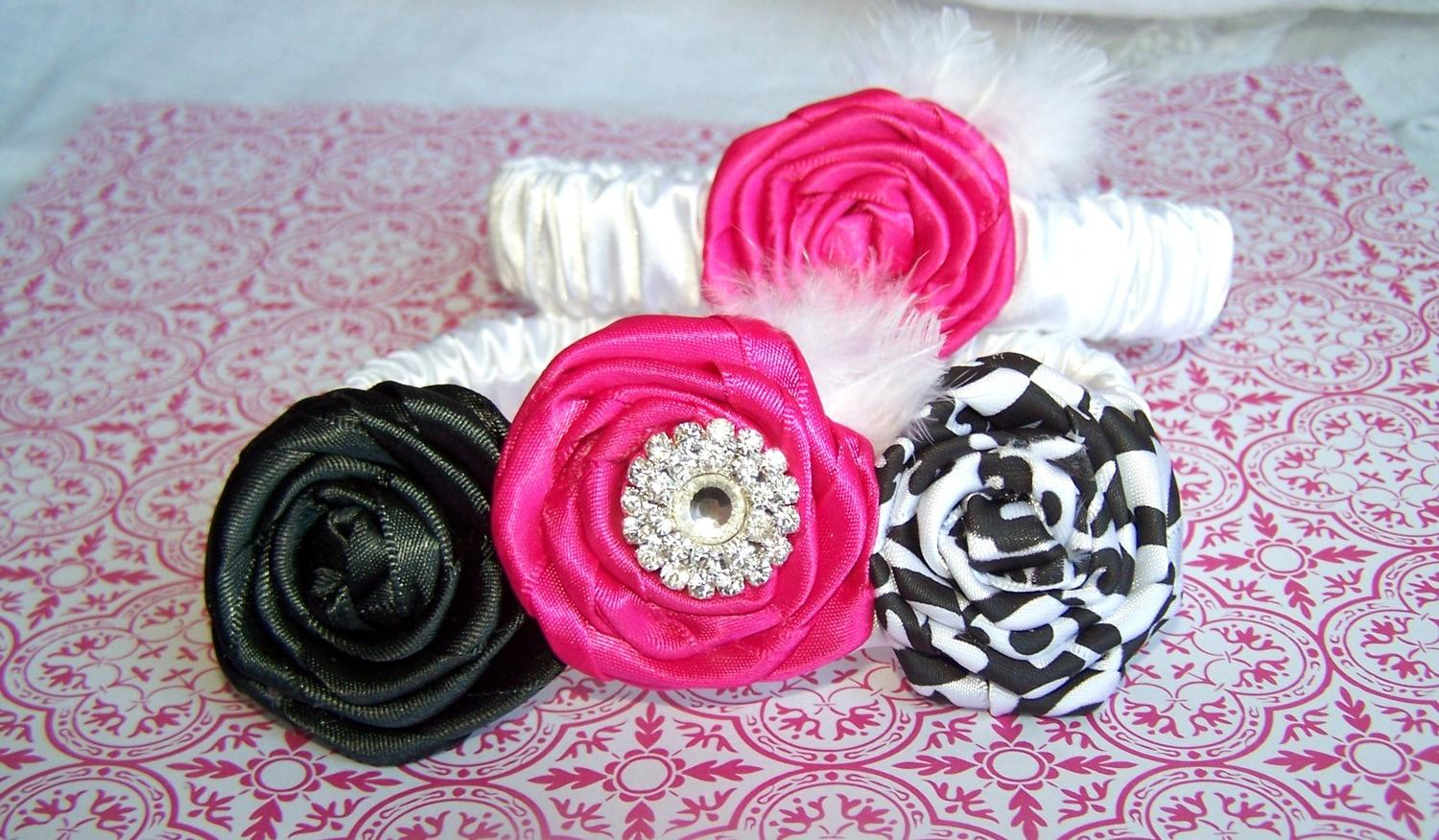 WEDDING GARTER SET - Black and