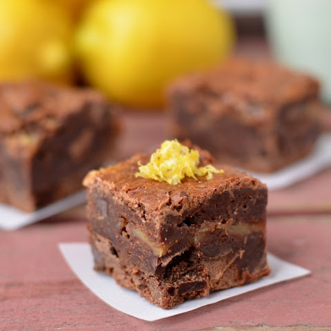 Fudgy Lemon Curd Brownies