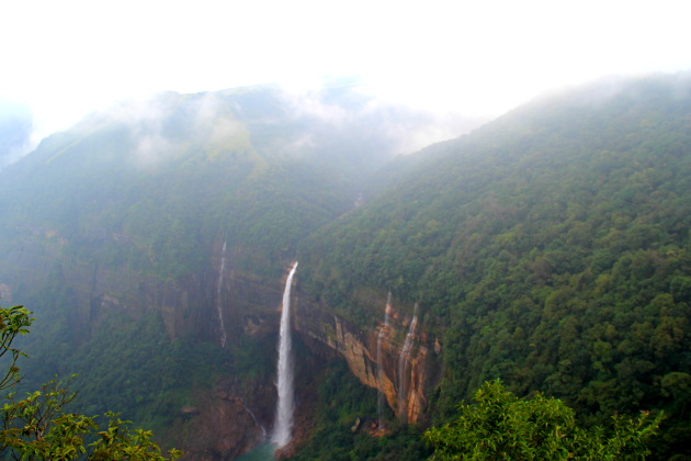 Noh Kalikai Falls of Meghalaya, one of the highest waterfalls in India
