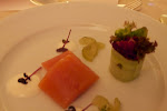 Local Cultured Salmon, Served with Lime Cream and marinated Field Cucumber
