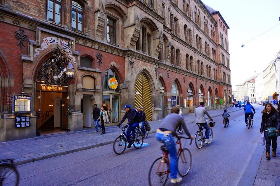 Велосипедисты в Мюнхене