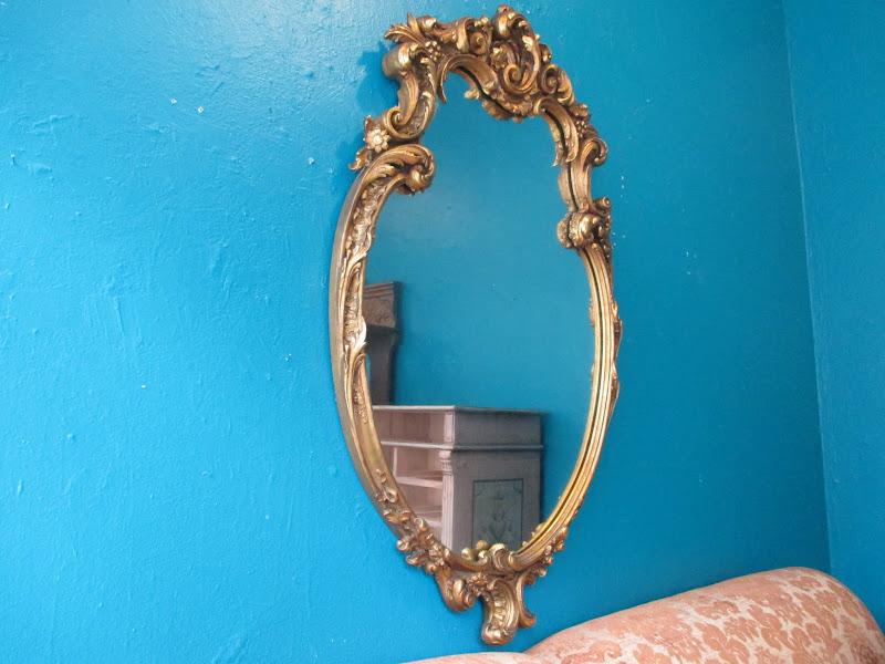 Gilded Scroll Mirror