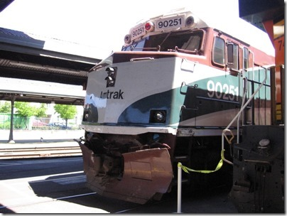 IMG_2801 Amtrak Cascades NPCU #90251 at Union Station in Portland, Oregon on May 8, 2010