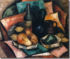Marsden-Hartley-xx-Still-Life-with-Bottle-and-Pitchers-xx-Private-Collection