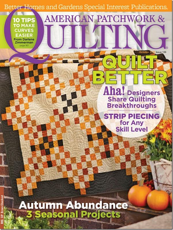 Zen Chi Quilt for AllPeopleQuilt October 2015 featuring Reel Time fabrics