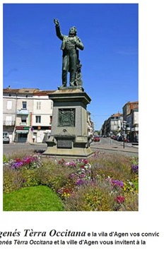 estatua de Gensemin a Agen