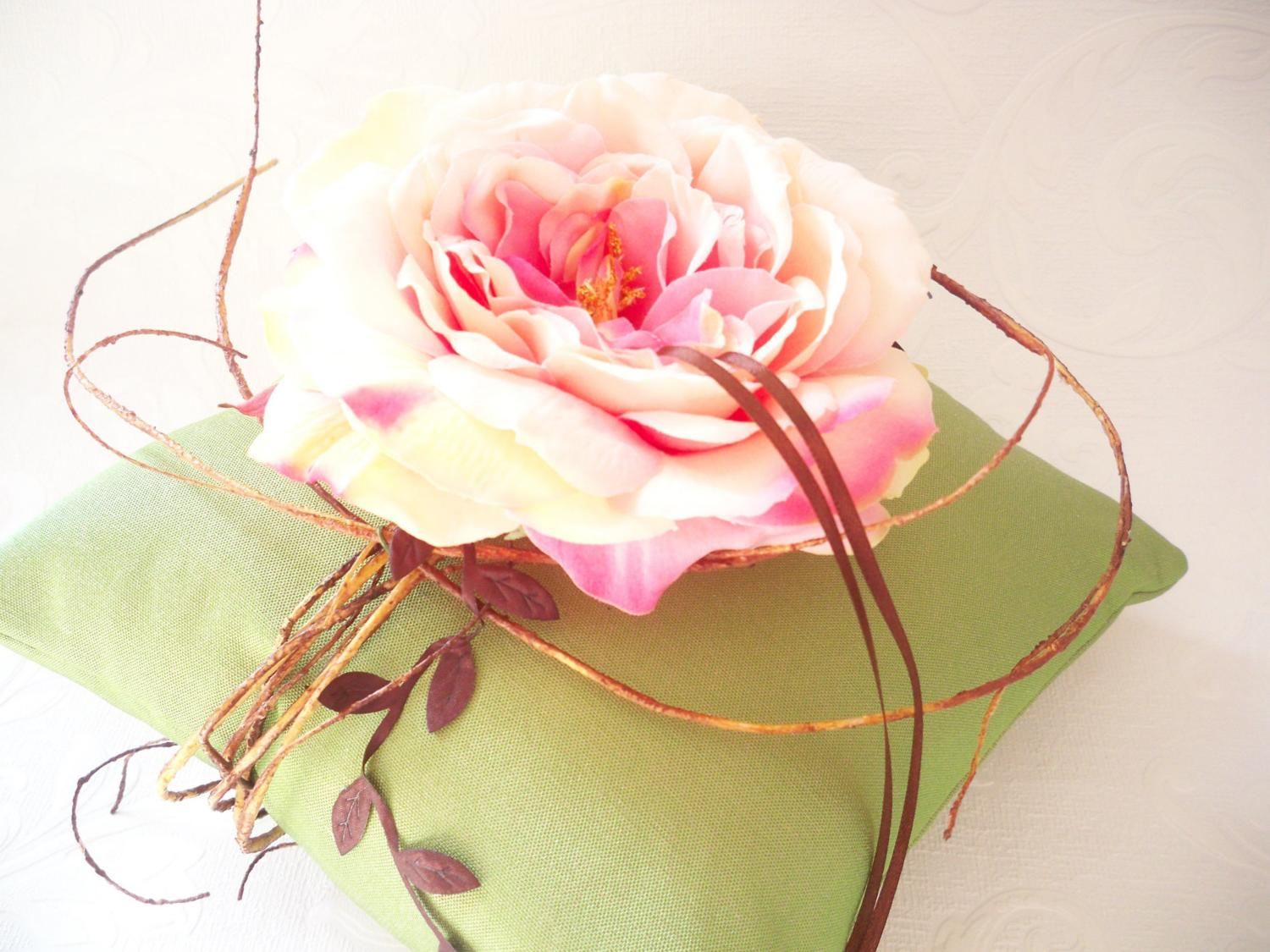 Secret Garden Collection Wedding Ring Pillow. From creations4brides