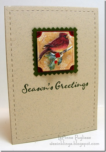 LeAnne Pugliese WeeInklings Simple Cardinal Waltzingmouse Christmas
