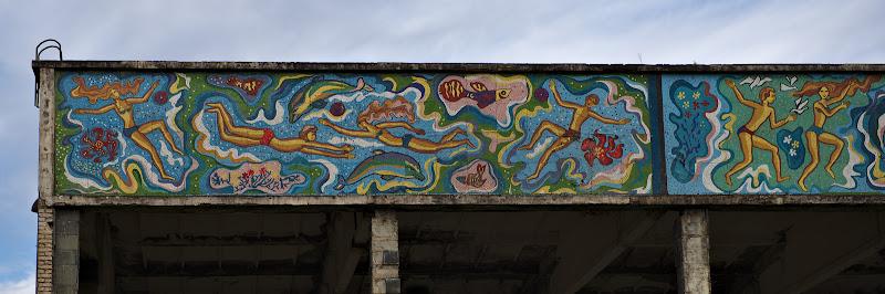 Macar imaginile au ramas din fosta piscina comunala.