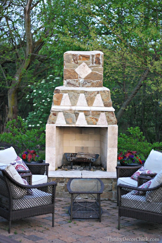 fireplace on patio