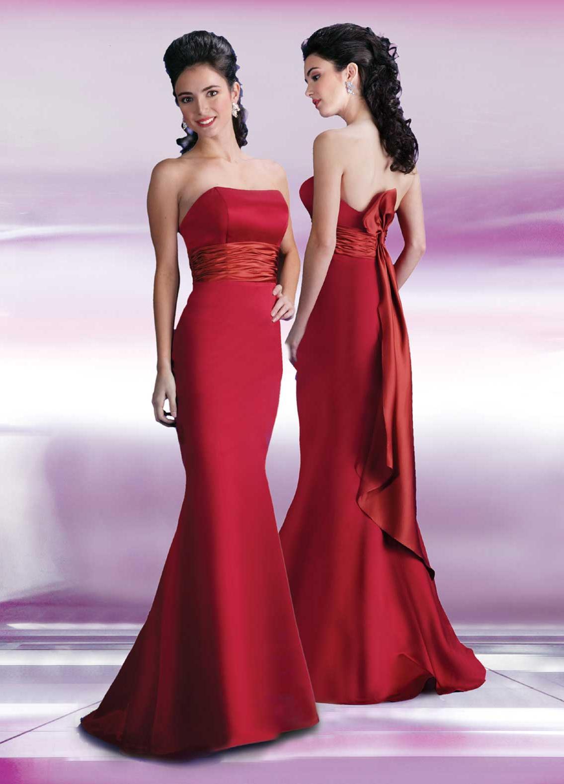 A-line Bridesmaid Dresses-Red