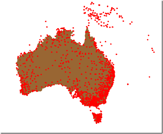 Map of Oz weather stations