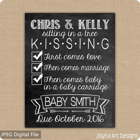 ETSY Listing First Comes love preg