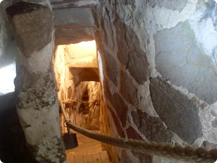 Østerlars Rundkrirke - loftstrappe