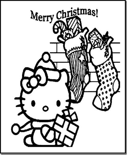 colorear hello kitty navidad (8)