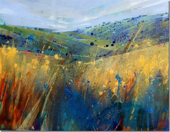 Sussex Meadow II-Lorna-Holdcroft-ENKAUSTIKOS