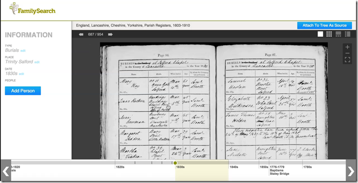 FamilySearch is interested in making it easier to find records in images that have not yet been indexed.