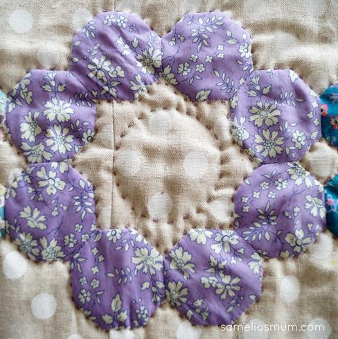Four Octagons - Purple Flower