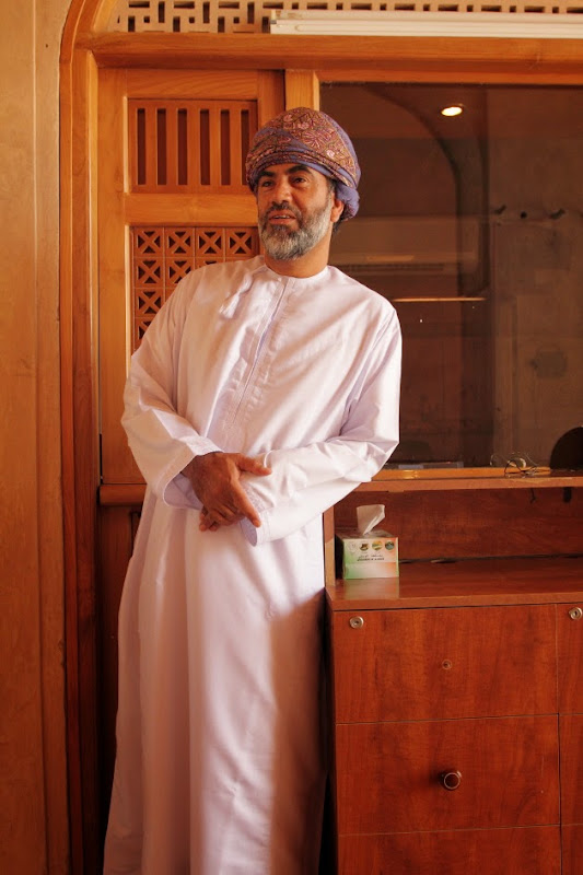 Omani Gentleman at Jabreen Castle, near Nizwa, Oman