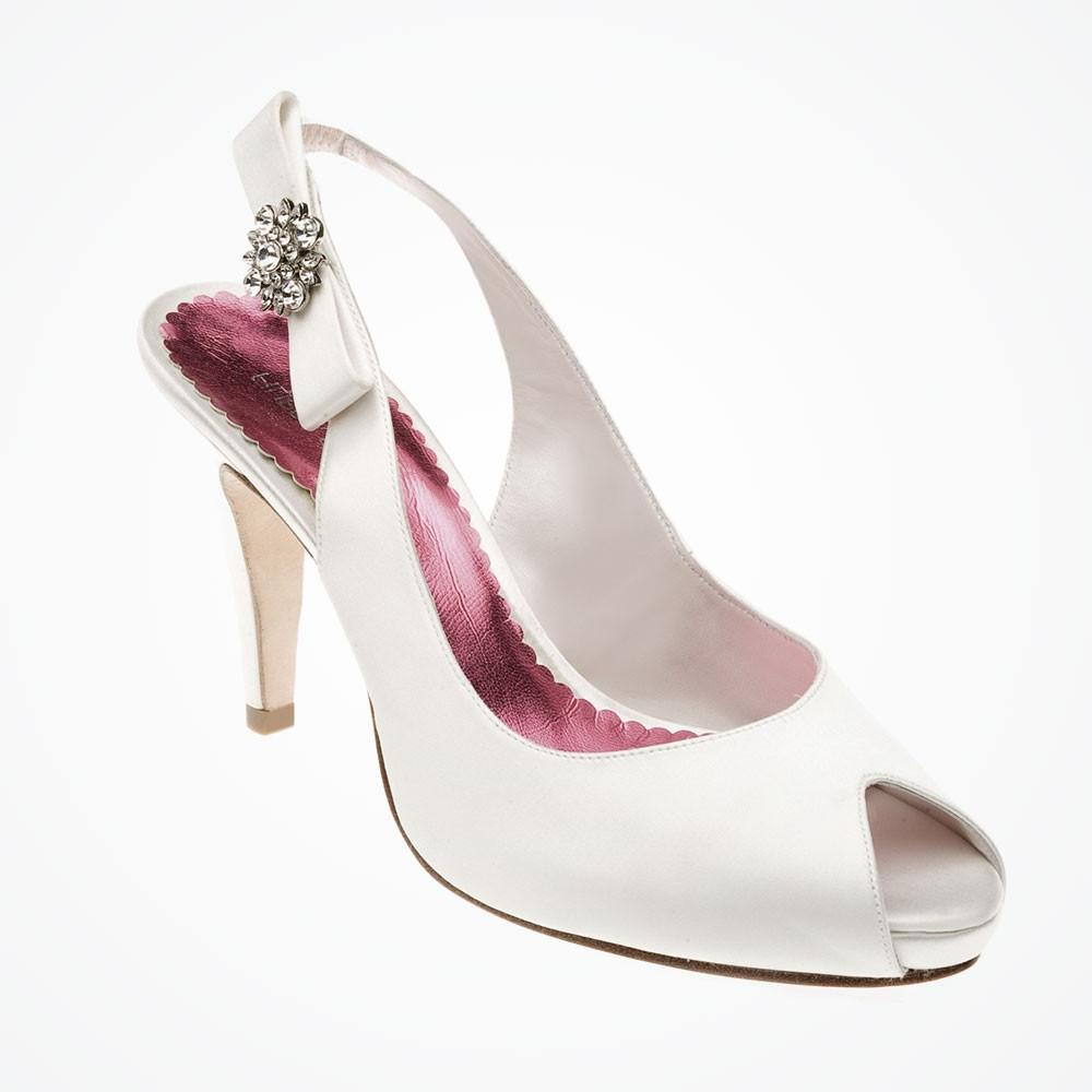 Jessica platform wedding shoe