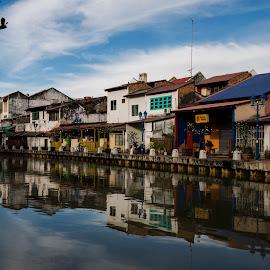 Morning Reflection by Boon Keat - City,  Street & Park  City Parks ( malaccariver, lumixgx7, reflection, malacca, malaysia, bkgraphy, river,  )