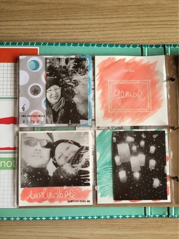 DIY, PROJECTLIFE, WATECOLOR, SCRAP, SCRAPBOOKING, TECNICA RESISTENCIA, EMBOSSING,