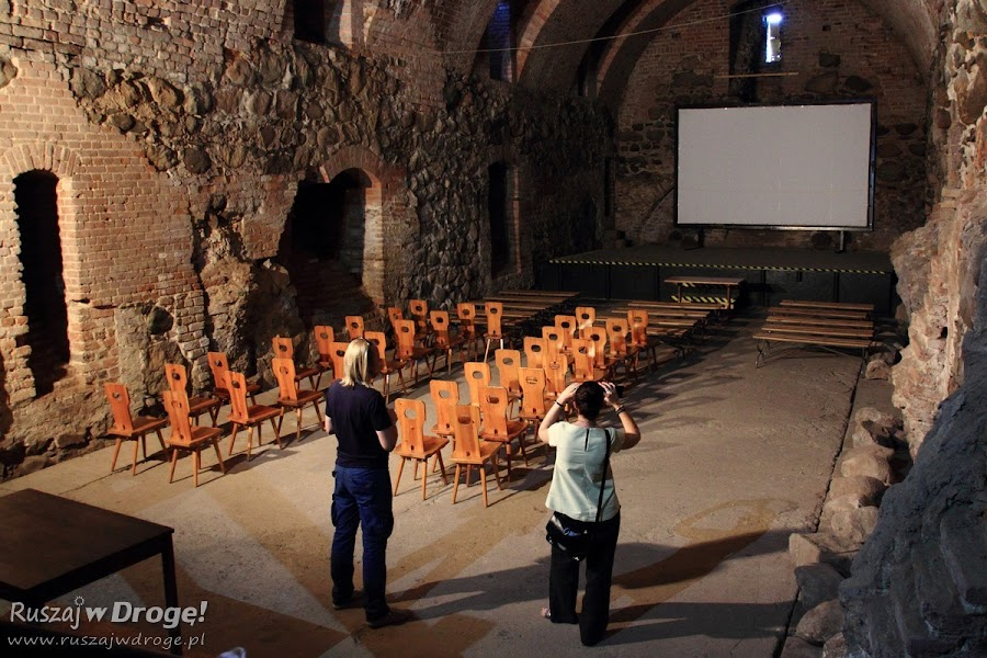 Sala kinowa na zamku w Świeciu