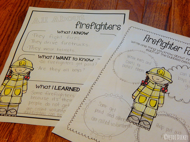 Fire Safety Graphic Organizers