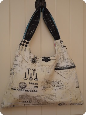 reversible selvedge tote