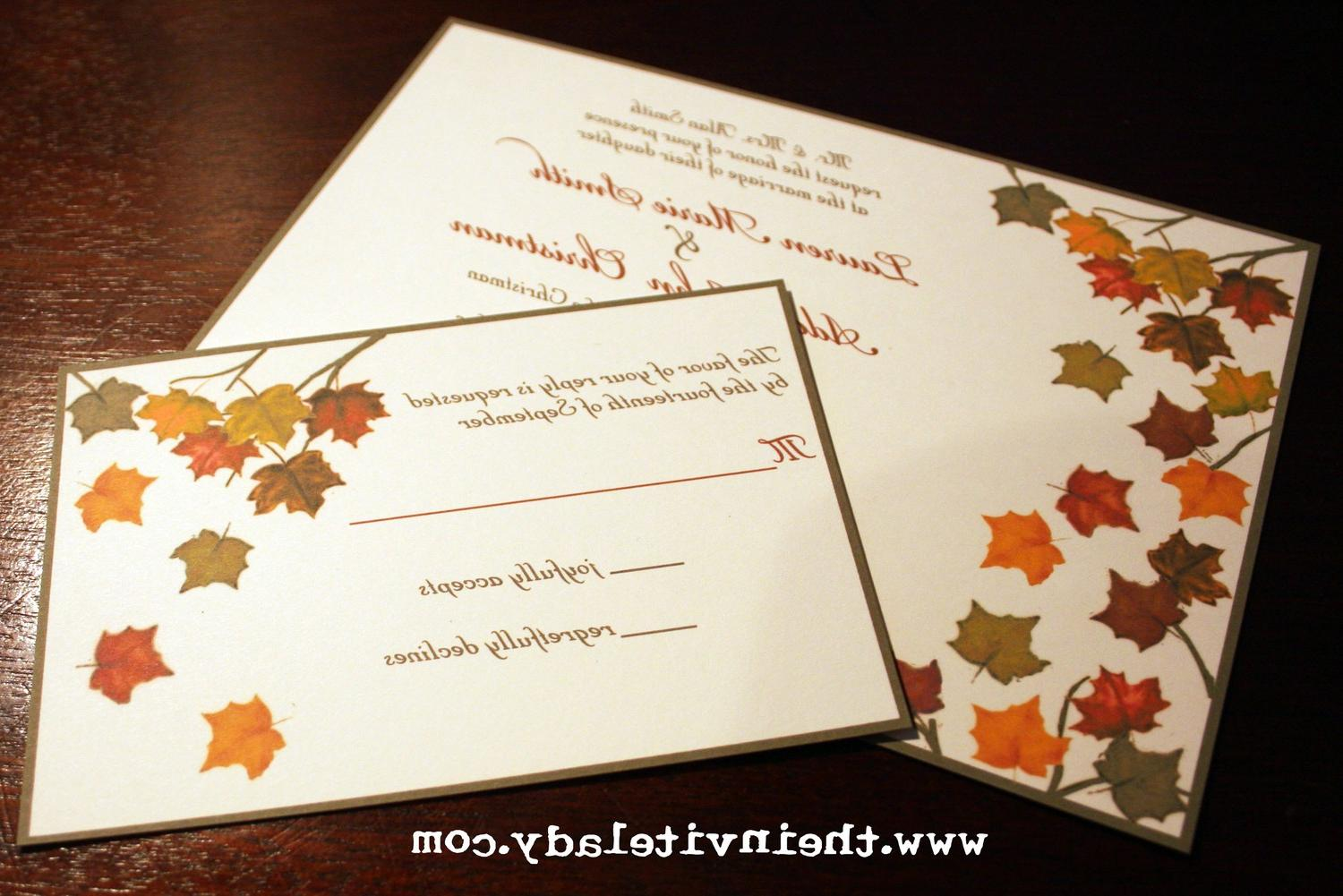 wedding invitation pieces autumn wedding invitations Noot s blog