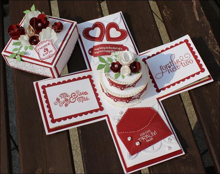 Explosion Box Love Wedding Hochzeit Cake 000