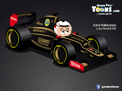 Кими Райкконен 2012 Lotus E20 by Grand Prix Toons