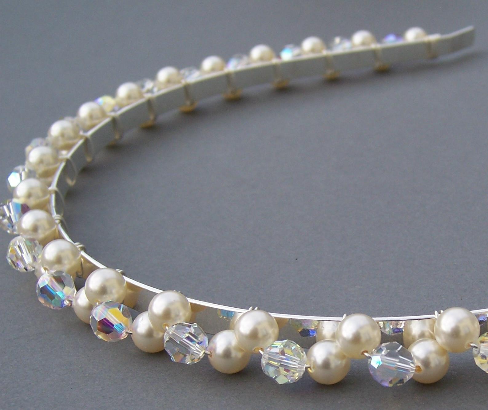 Swarovski Pearl  Crystal Hair